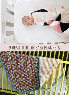 A DIY baby blanket is a great way to bring color to a nursery.