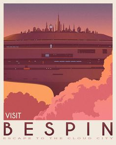 Star Wars set of 4 travel poster vintage. Starwars planet illustration. Sci fi vintage print. Luke skywalker. Two mon landscape. Room decor. Return of the jedi. Trilogy film. Movie poster. Rogue one Inspired Star Wars movie. This design is suitable for office or your home. It is
