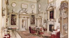 The Great Hall at DItchley Park by Alexadre Serebriakoff