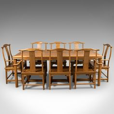 Antiques Atlas - Mid-Century Chinese Table & 8 Chairs