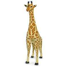 Giant Giraffe Stuffed Animal - this is such a fun nursery or kids room accent, especially for a safari theme room! #PNshop