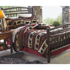 Save - on all Rustic bedding and comforter sets at Black Forest Decor. Your source for discount pricing on lodge bedding and bear bedding accessories. Black Bear Decor, Black Forest Decor, Rustic Bedding, Bedding Decor, Unique Bedding, Girl Bedding, Quilt Bedding, Just Dream, We Are The World