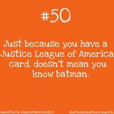 Justic League of America, Batman, and the Big Bang Theory