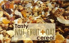 A delicious and nutritious home-made cereal to replace sugary store-bought options.