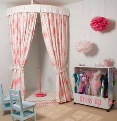 stage/ dressing room for little girls room