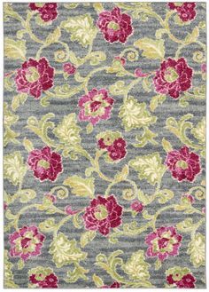 RugStudio presents Nourison Waverly Aura Flora Aof02 Machine Woven, Good Quality Area Rug
