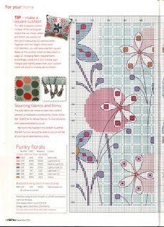 Funky Flower pillow chart1