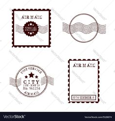 Stamp mail vector image on VectorStock Free Vector Images, Vector Free, Airmail Envelopes, Travel Journals, Printable Stickers, Adobe Illustrator, Royalty, Stamp, Architecture