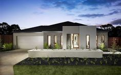 Lancaster Contemporary Facade, New Home Designs - Metricon