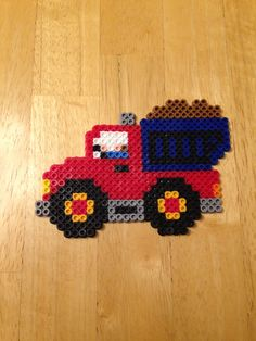 Perler bead dump truck