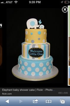 Baby shower cake color for BOY