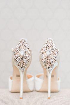 Stylish wedding shoes via Blush Wedding Photography