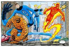 Fantastic Four - Marvel Universe Marvel Comics Superheroes, Dc Comics Art, Marvel Comic Books, Marvel Heroes, Comic Books Art, Comic Art, Comic Book Artists, Comic Book Characters, Comic Character