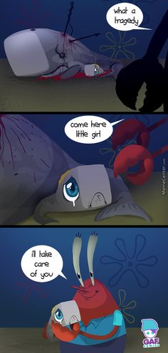 SpongeBob how Mr Krabs adopted pearl Childhood Ruined, Right In The Childhood, Spongebob Memes, Spongebob Squarepants, Spongebob Theory, Watch Spongebob, Pearl Spongebob, Spongebob Cartoon, Funny Jokes