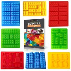 Americas Best Buys 8Pack Silicone Candy Molds and Ice Mold for Lego Lovers with Recipe eBook >>> See this great product by click affiliate link Amazon.com