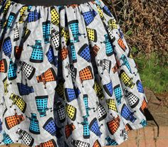 Elastic Waist Skirt Made From Dalek Fabric by NiceRiceShop on Etsy https://www.etsy.com/listing/225488846/elastic-waist-skirt-made-from-dalek