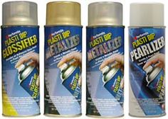 Plasti Dip Enhancers: Glossifier, Gold Metalizer, Silver Metalizer & NEW! Pearlizer