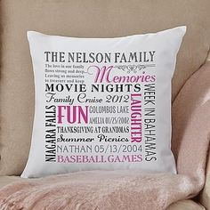 Remember When Family Pillow - Mother's Day Gift Idea