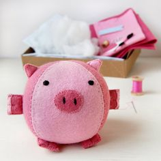 Make Your Own Piglet Craft Kit - Sewing Kit, Activity Kit. £15.00, via Etsy.
