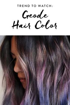 One scroll through your Instagram feed and you'll know that rainbow hair is everywhere. But looking at photos of Skittles-colored strands on your phone and actually trying it yourself are two completely different things. Which is why we're so excited about the geode hair trend. It's just as mesmerizing but a tad more refined.