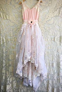 blush cream & whisper pink embroidered by mermaidmisskristin