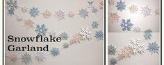 Stardream Metallic Snowflake Garland