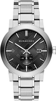 16a7eeab252e Men s Wrist Watches - Burberry Mens Swiss Stainless Steel Bracelet Watch  42mm BU9901   You can