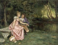 The Courtship by Joseph Frederic Charles Soulacroix.