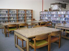 This is a quieter area located away from the circulation desk.  Unfortunately, there are no electrical outlets available in this space, and the cost of adding outlets was estimated at nearly $1,000 per outlet, due to 8 inch concrete floors and the cinder block construction of the building.
