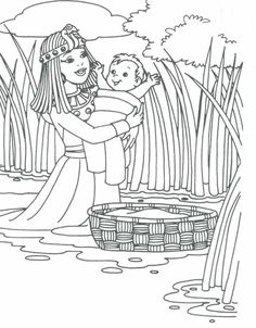 Moses Coloring Pages Free Printables Red sea Sunday school