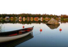 Boathouses Korsnäs. Ostrobothnia province of Western Finland. - Pohjanmaa. - Kuva: Korsnäsin kunta