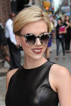 I love this look. Fierce sunglasses and a no-fuss haircut.