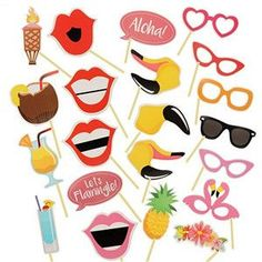 Photo Booth Props 24Pcs/Set Photobooth For Wedding Birthday Party Halloween Decoration Photo Booth Props Party Mask #2