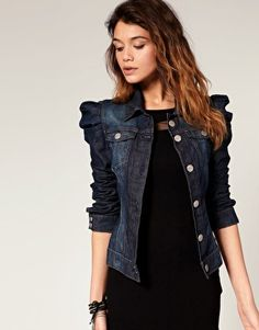 Miss Sixty Puff Sleeve Denim Jacket