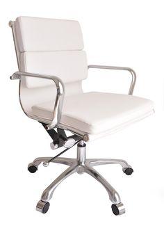 SOHO Soft Pad Management Chair (White)