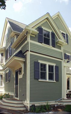 Victorian Paint Colors fish-scale siding on victorian | house envy | pinterest | house