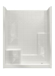 "MP Solid Surface Tile Sectional 60"" x 32"" Shower Right Hand Seat"