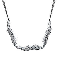 18K black rhodiumed gold necklace with 3.26 carat round brilliant cut diamonds and 7.93 carat rose cut diamonds.(#23859) #michaeljohnjewelry