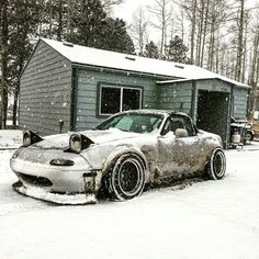 #miata #mx5 #mazda #snow #nove #car #christmas #drift
