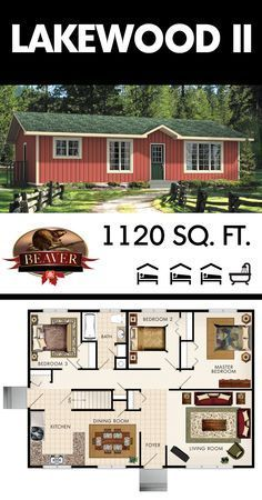 Designed for a simple living, the Lakewood II may be compact but it's very efficient and includes plenty of #storage space. #BeaverHomesAndCottages