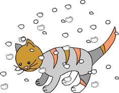 ABC-die Katze lief im Schnee