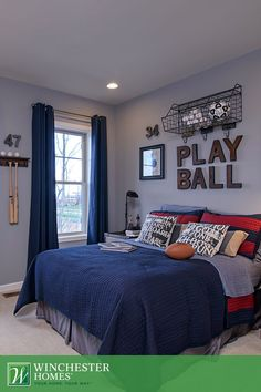 Boys Football Bedroom Ideas one room challenge: boy's football bedroom reveal | football