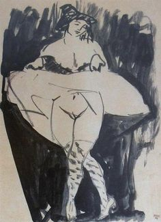 Dancer by Amedeo Modigliani, Expressionism nude painting (nu) — Artful for Mac Amedeo Modigliani, Klimt, Picasso, Drawing Studies, Artist Sketchbook, Italian Painters, Art Database, Life Drawing, Dancer Drawing