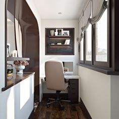 47 Turning Small Balcony into Home Office Ideas - Unique Balcony & Garden Decoration and Easy DIY Ideas Long Narrow Rooms, Small Rooms, Small Home Offices, Small Apartments, Workspace Design, Home Office Design, Murphy Bed Ikea, Traditional Bedroom Decor, Tiny House Design