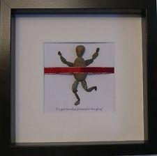 Personalised Pebble Art Frame gift for Runner, Marathon and 10k Run