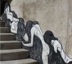 Picture of Street art by Hyuro - Besancon (France) Graffiti, Besancon France, Stair Art, Space Drawings, Best Street Art, Social Art, Step By Step Painting, Outdoor Art, Street Artists
