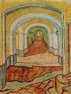 Vincent van Gogh - V. van Gogh, A corridor in the Asylum.