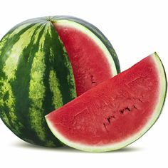 Photo about Big watermelon and slice on white background as package design element. Image of watermelon, refreshment, summer - 44517200 Eating Watermelon, Watermelon Slices, Fruits Photos, Fruits Images, Watermelon Images, Watermelon Health Benefits, Image Fruit, Sour Fruit, Fruit Photography