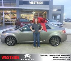 #HappyAnniversary to Haley Thompson on your 2011 #Kia #Forte Koup from Rubel Chowdhury at Westside Kia!