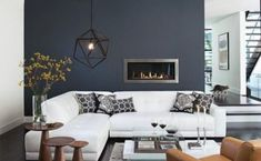 Winter living room decor can be done in many ways. The key is to create a warm and comfortable living room for the season. If you need an insight to redecorate your living room for winter, you can read our… Continue Reading → Winter Living Room, Living Room Decor Cozy, Living Room Grey, Living Room Modern, Home Living Room, Living Room Designs, Modern Wall, Modern Decor, White Sofa Design